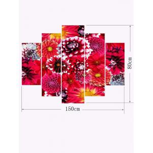 Blooming Flower Print Unframed Split Canvas Paintings -