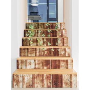 Rusty Wall Print Decorative Stair Stickers -
