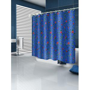 Flower Vines Print Waterproof Bathroom Shower Curtain -