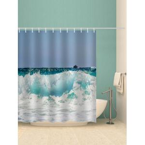 Rough Sea Print Waterproof Bathroom Shower Curtain -