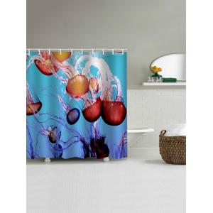 Jellyfish Pattern Waterproof Bathroom Shower Curtain -