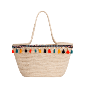Tassels Leisure Holiday Beach Bohemian Straw Tote Bag -