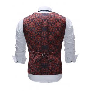 Shivering Flower Print Single Breasted Vest -
