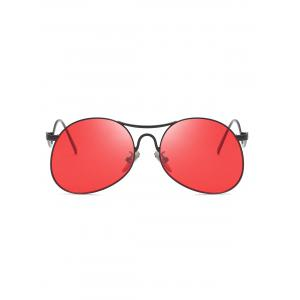 Novelty Flat Lens Bent Legs Sunglasses -