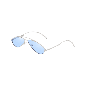 Retro Irregular Lens Clear Lens Sunglasses -