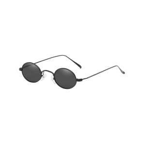 Anti UV Metal Full Frame Lightweight Oval Sunglasses -