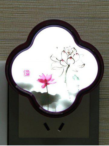 Chic LED Optical Controller Chinese Flower Night Light