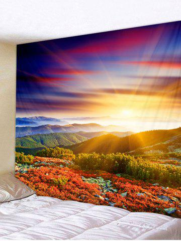 Buy Sunlight Mountains Flowers Scerery Printed Wall Deocr Tapestry