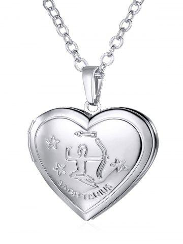 Discount Carved Heart Shaped Box Pendant Necklace