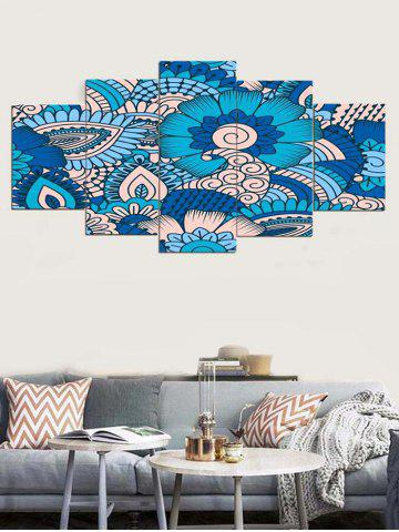 Discount Leaves Flower Print Unframed Canvas Paintings