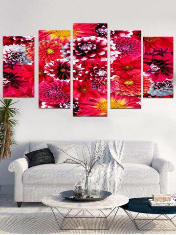 Best Blooming Flower Print Unframed Split Canvas Paintings