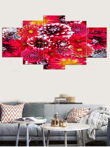Cheap Blooming Flower Print Unframed Split Canvas Paintings