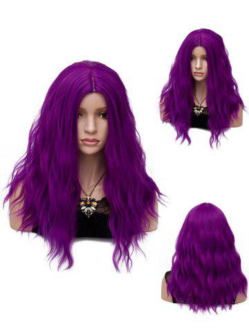 Hot Long Center Parting Natural Wavy Synthetic Party Wig