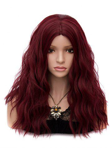 Cheap Long Middle Part Natural Wavy Party Synthetic Wig