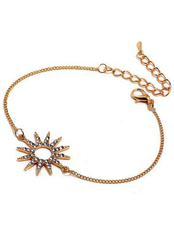 Unique Rhinestone Sun Design Bracelet
