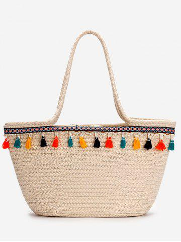 Store Tassels Leisure Holiday Beach Bohemian Straw Tote Bag