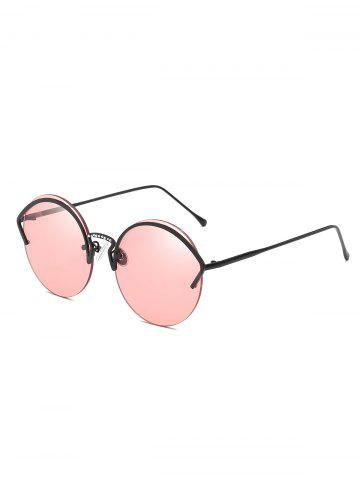 Outfit Novelty Alloy Frame Semi Rimless Sunglasses