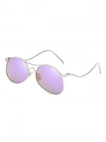 Unique Novelty Flat Lens Bent Legs Sunglasses