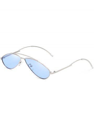 Chic Retro Irregular Lens Clear Lens Sunglasses