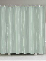 Lines Print Waterproof Bathroom Shower Curtain -