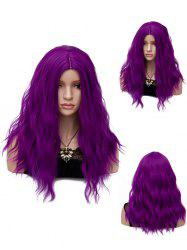 Long Center Parting Natural Wavy Synthetic Party Wig -