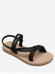 Flat Heel Espadrille Ropes Chic Holiday Slingback Sandals -