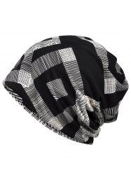 Stylish Geometric Printed Slouchy Beanie -