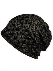 Vintage Golden Bright Silk Slouchy Beanie -