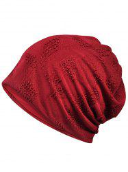 Simple Solid Color Breathable Beanie Hat -