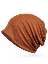 Striped Pattern Open Top Slouchy Beanie -
