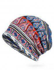 Vintage Floral Pattern Open Two Beanie -