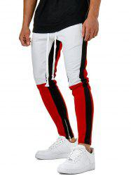Hem Zipper Colorblock Track Pants -