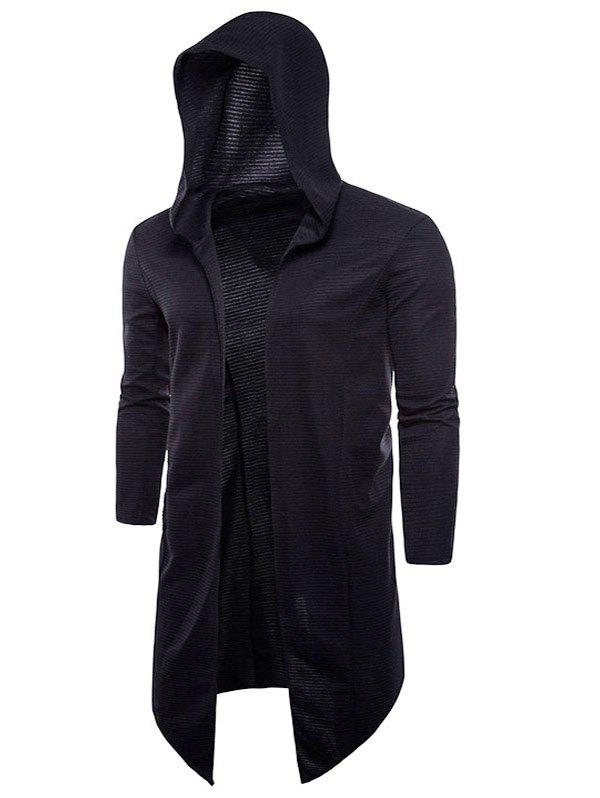 Latest High Low Hem Casual Hoodie Cardigan