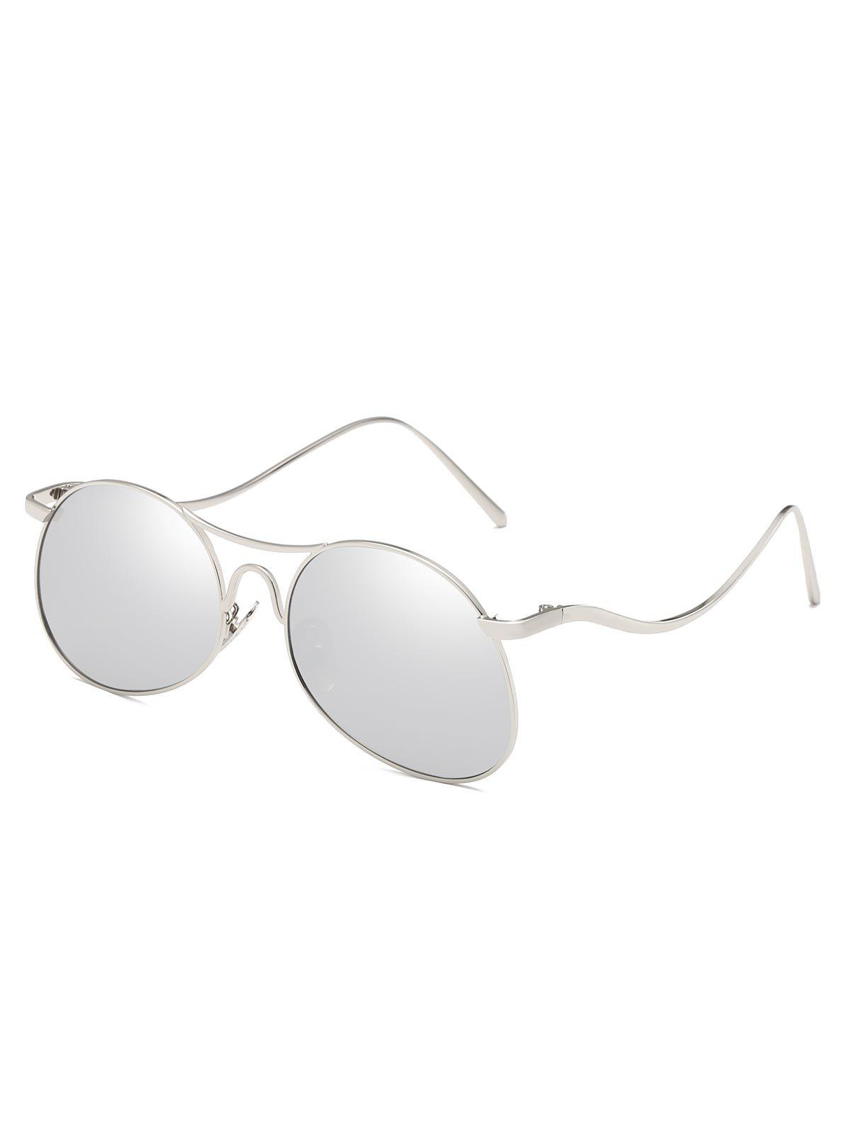 Outfit Novelty Flat Lens Bent Legs Sunglasses