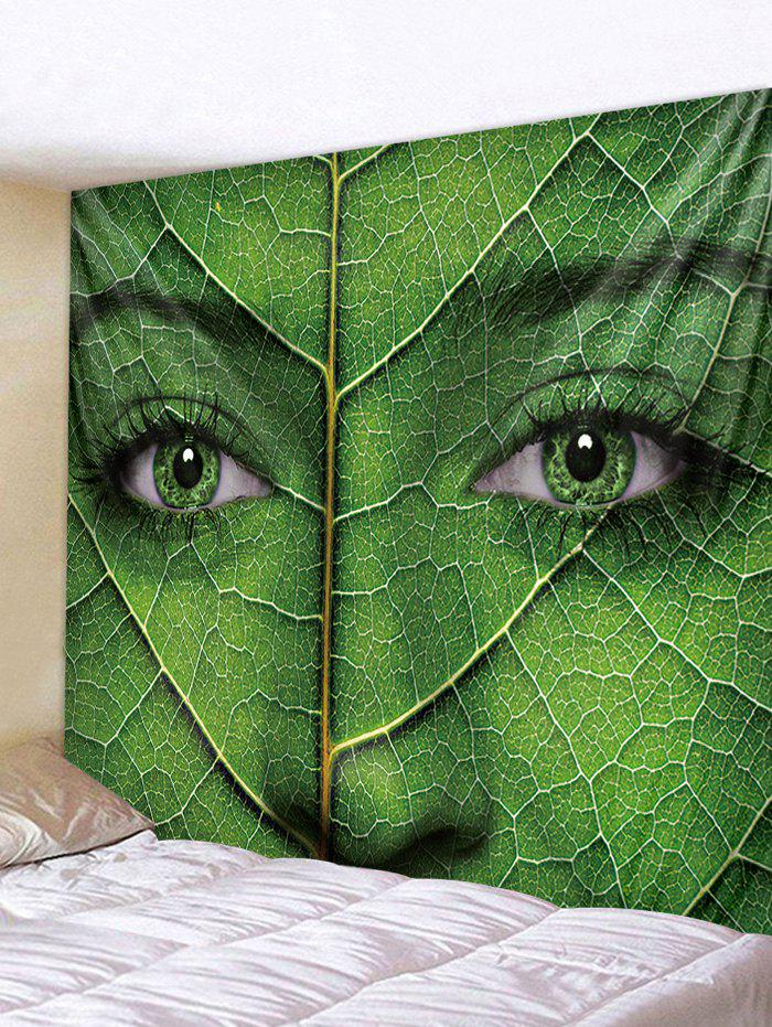Best Wall Hanging Art Women Face Leaf Print Tapestry