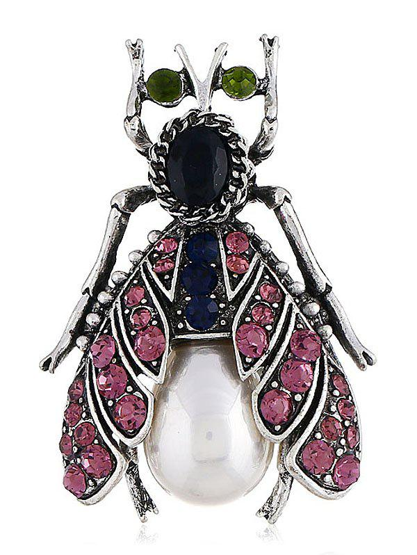 Цветной Rhinestone Inlaid Alloy Insect Pin Brooch