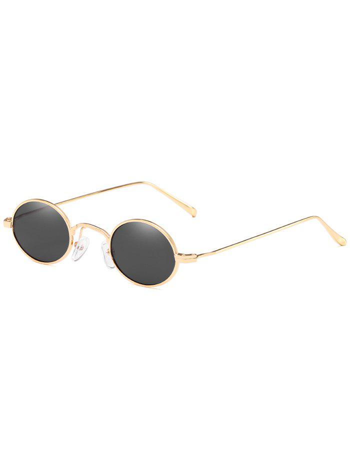 Discount Anti UV Metal Full Frame Lightweight Oval Sunglasses
