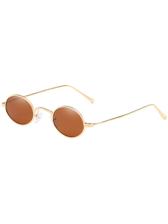 Shops Anti UV Metal Full Frame Lightweight Oval Sunglasses