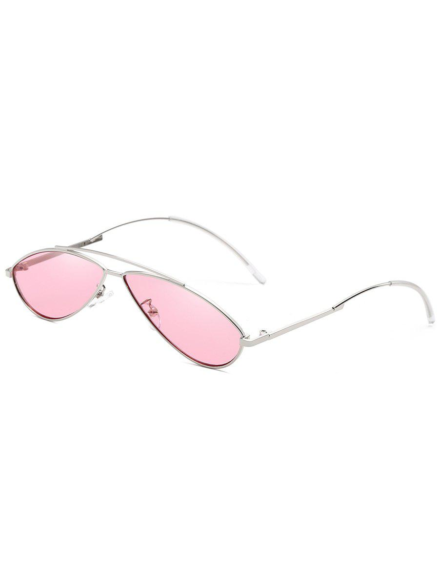New Retro Irregular Lens Clear Lens Sunglasses