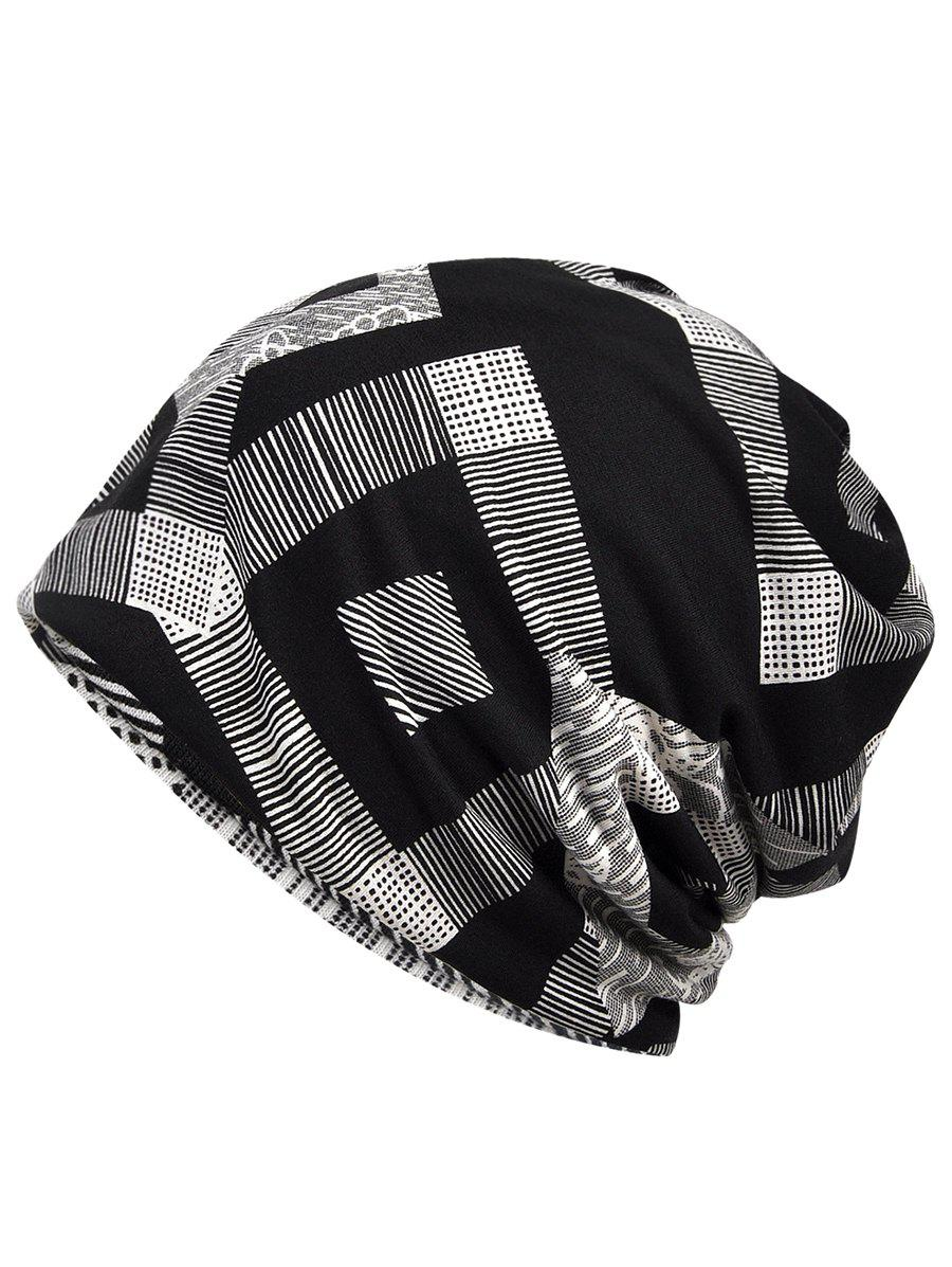 Cheap Stylish Geometric Printed Slouchy Beanie