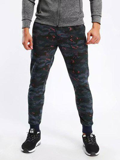 New Elastic Drawstring Waist Camouflage Print Activewear Jogger Pants