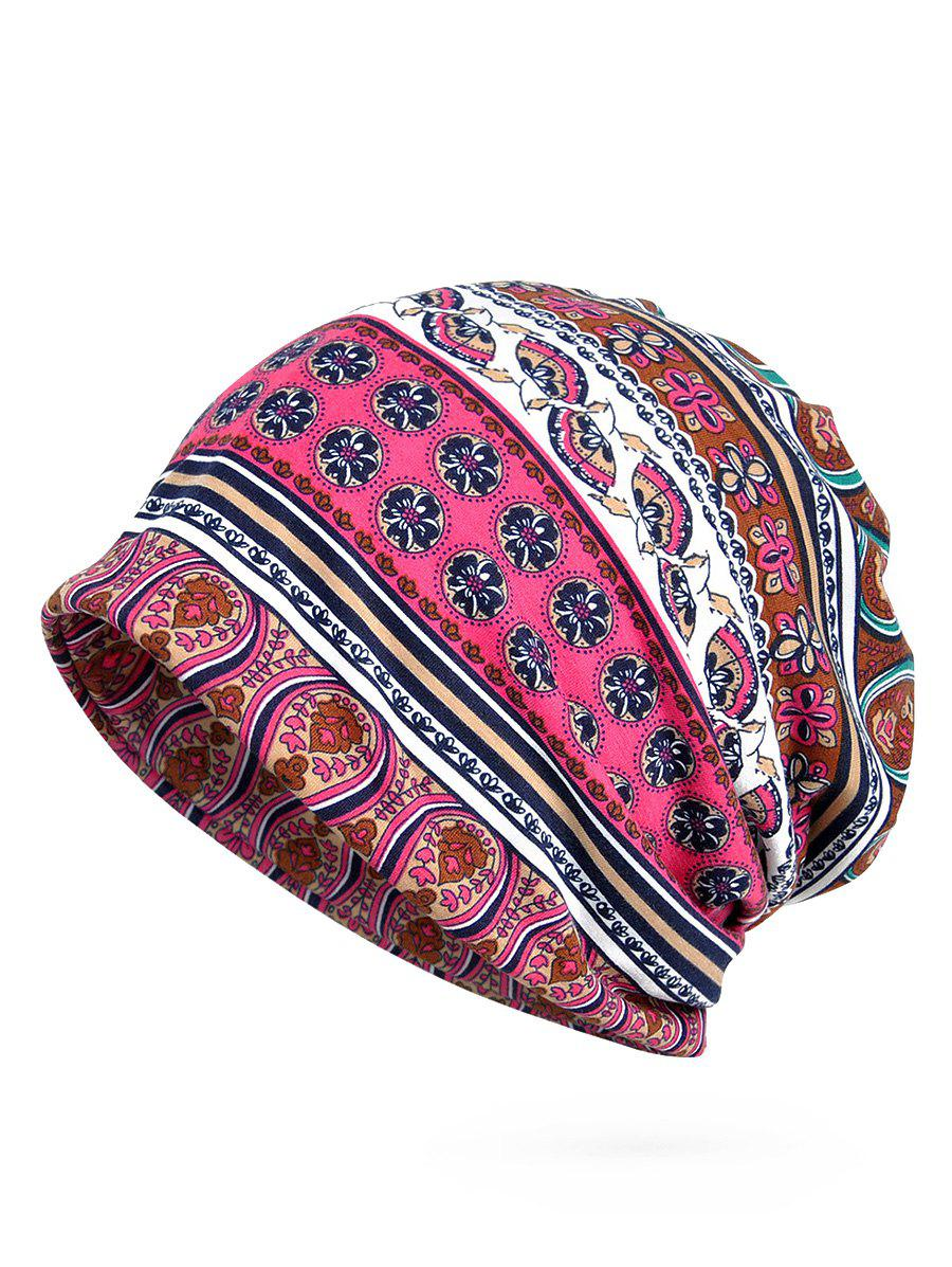 Fashion Vintage Floral Pattern Open Two Beanie