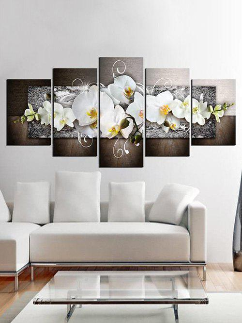 Outfit Flower Print Unframed Split Canvas Paintings