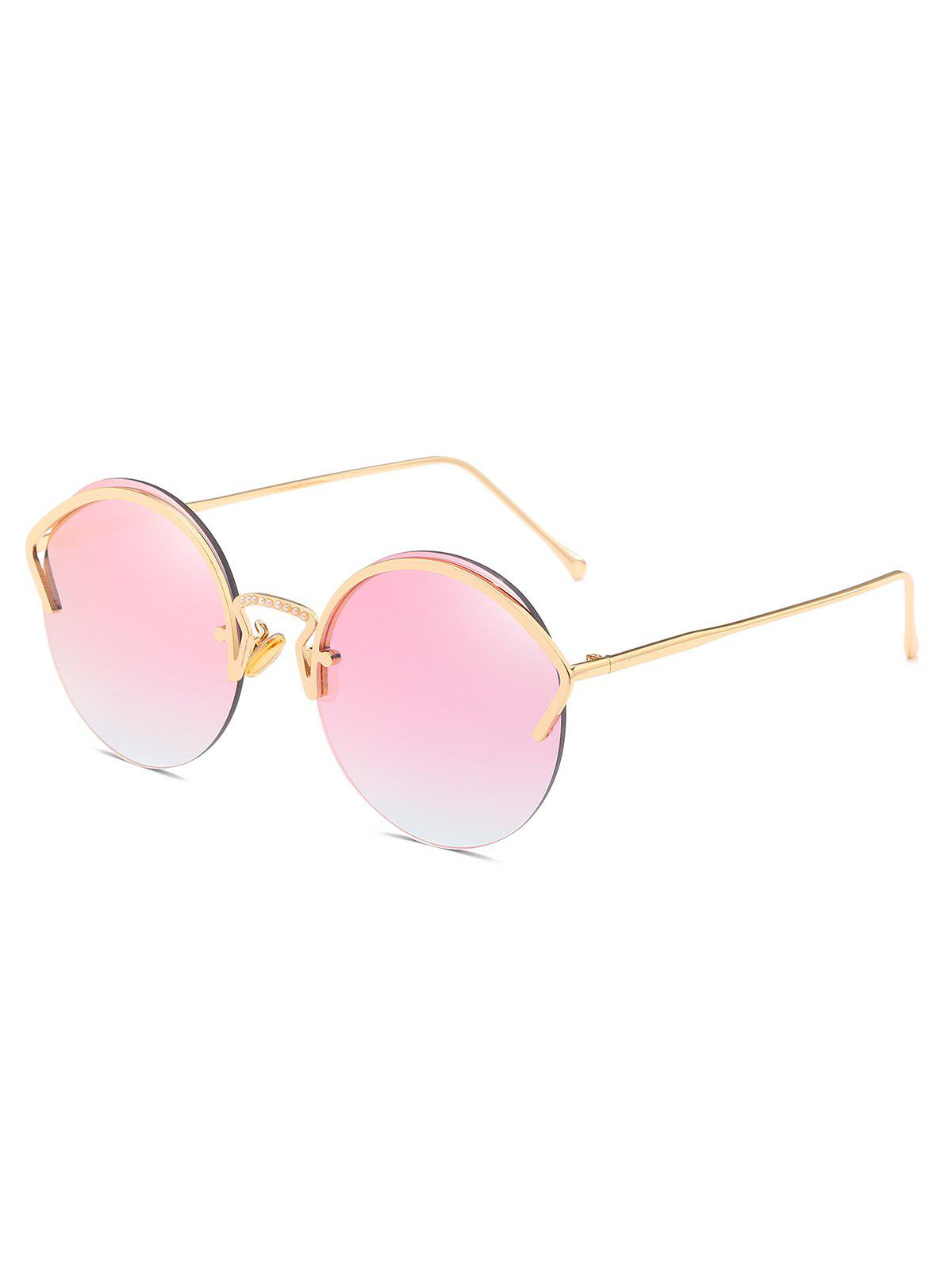 Trendy Novelty Alloy Frame Semi Rimless Sunglasses