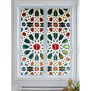 Colorful Geometric Pattern Door Cover Stickers -
