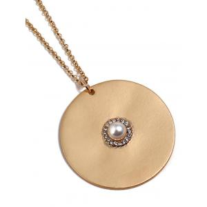 Circle Disc Chain Necklace -