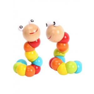 Flexible Wooden Twisting Worm Toy -