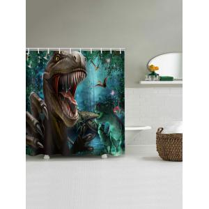 Tyrannosaurus Print Bathroom Shower Curtain -