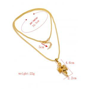 Angel Design Long Chain Necklace -