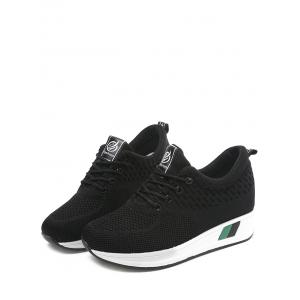 Increased Internal Casual Lace Up Sneakers -